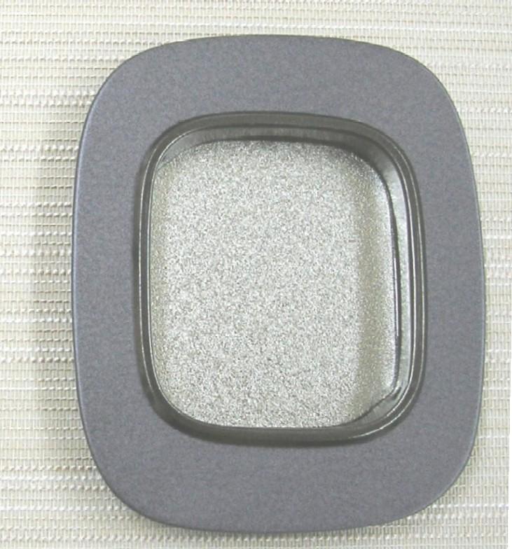 画像1: ふすまの引手 撫角 銀チジミ